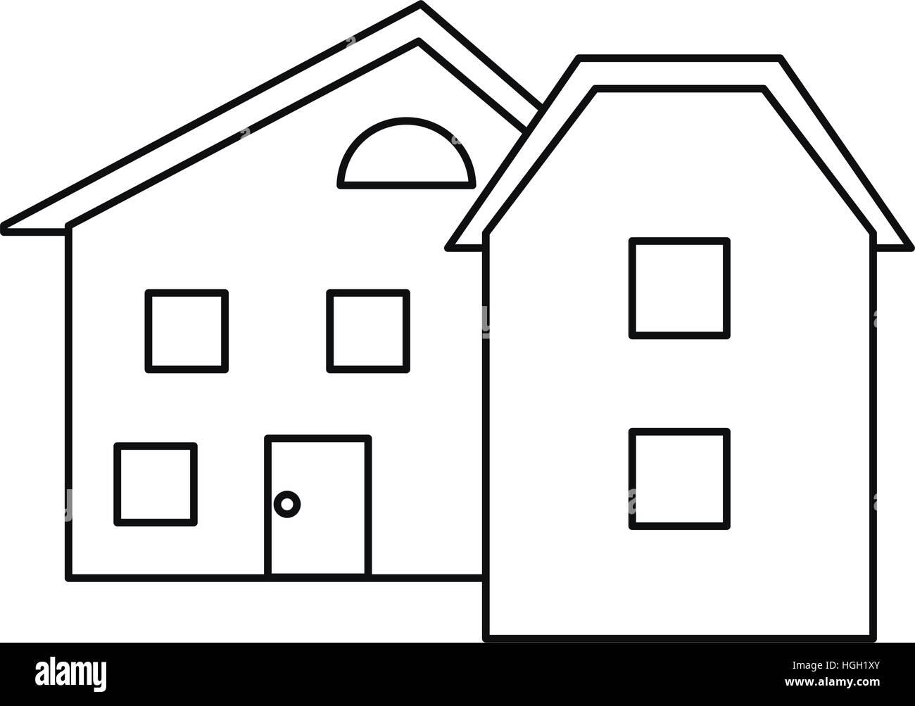 modern home style windows outline Stock Vector Art & Illustration
