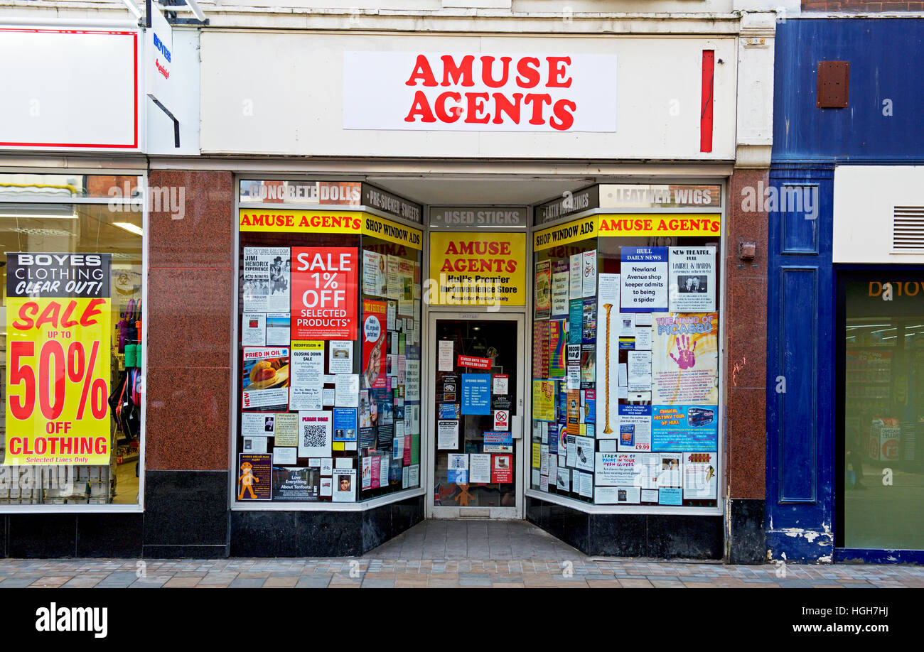 Empty shop in Hull, East Yorkshire, Humberside, England UK - Stock Image