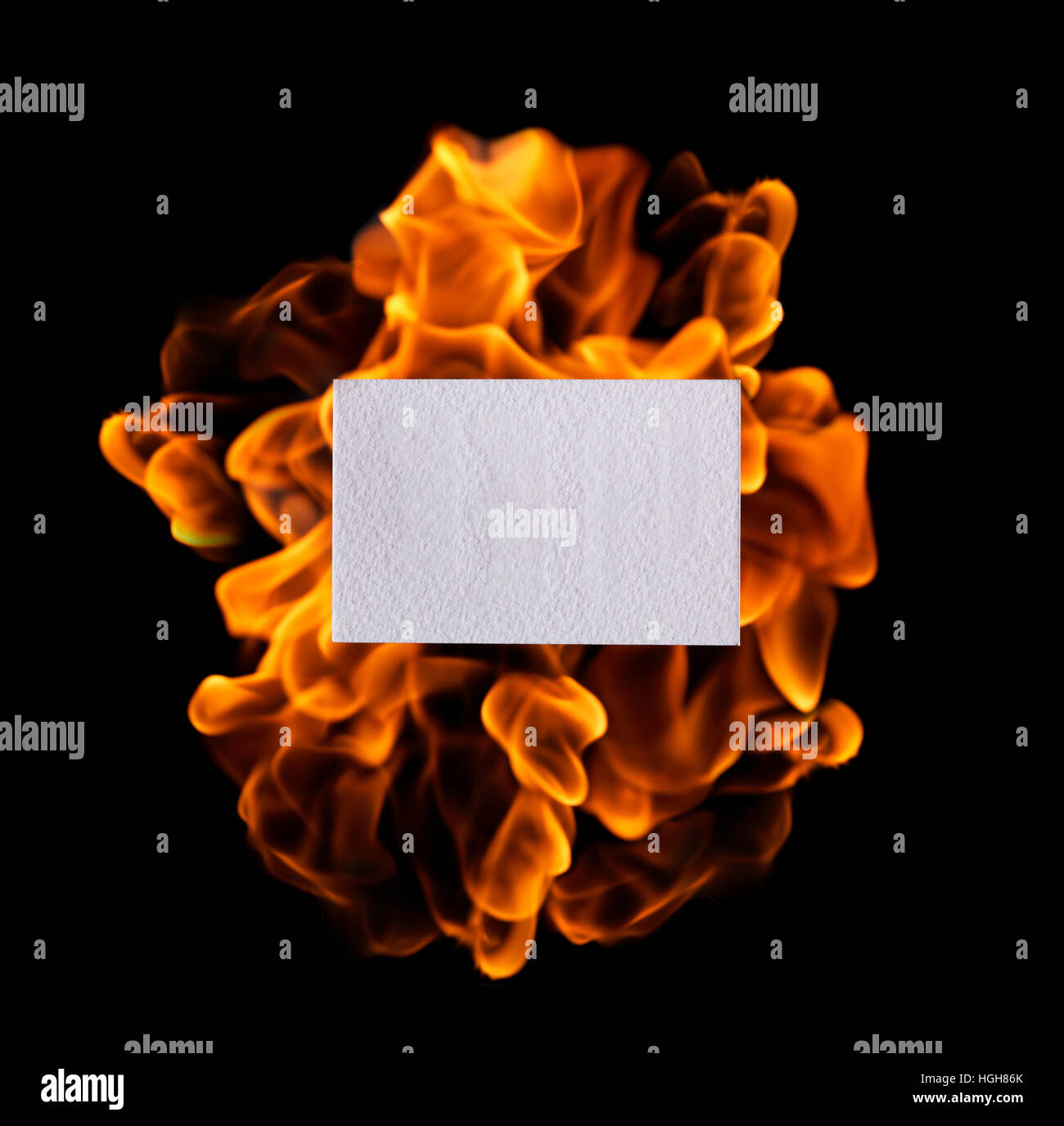 Glowing Fire Flame - Stock Image