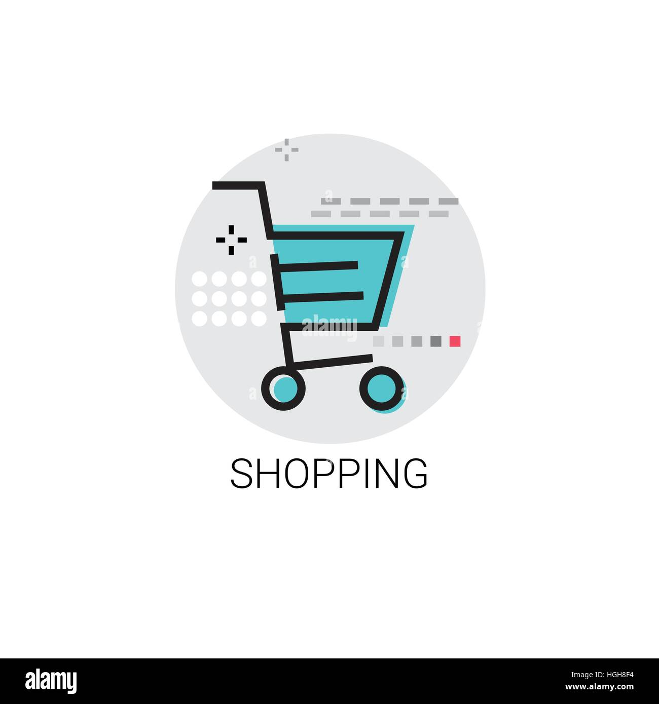 Shopping Cart Trolley Big Sale Icon - Stock Vector