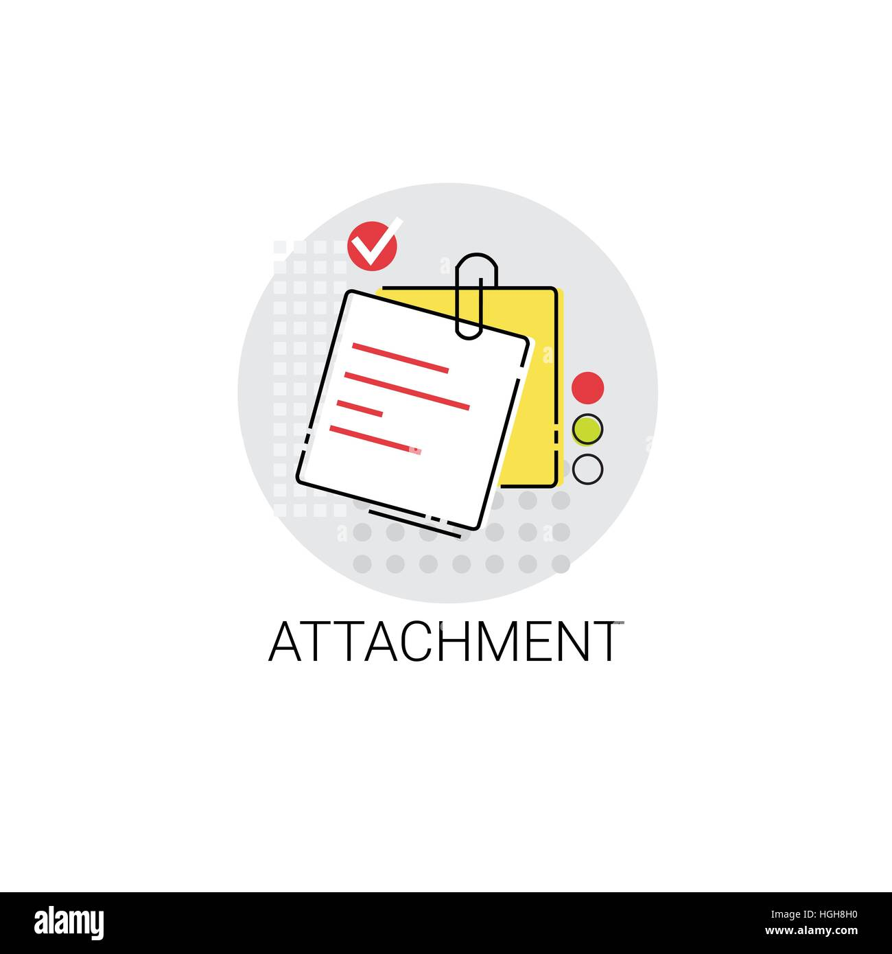 Attachment Note Work Office Tool Icon - Stock Vector