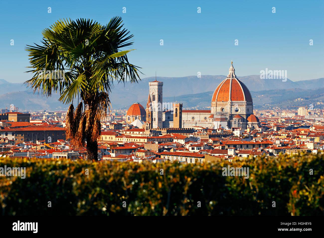 Florence, cattedrale di Santa Maria del Fiore in Tuscany, Italy - Stock Image