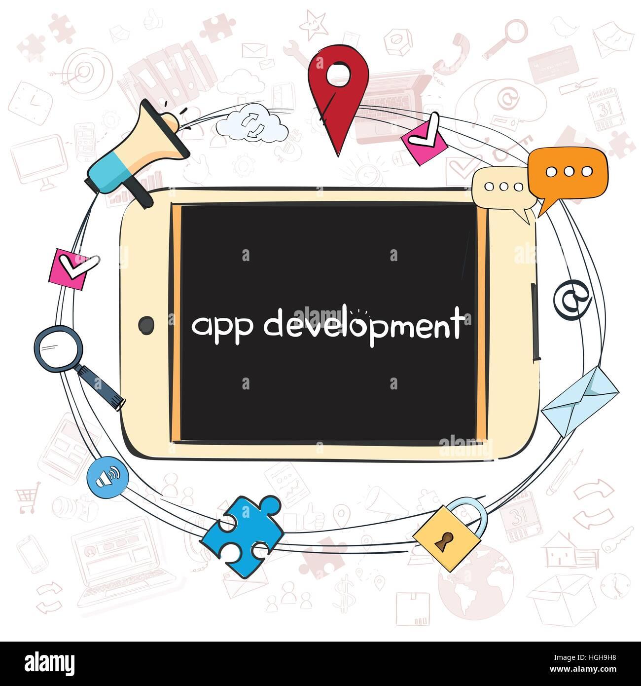 Application Development Creative Process Business Concept Banner