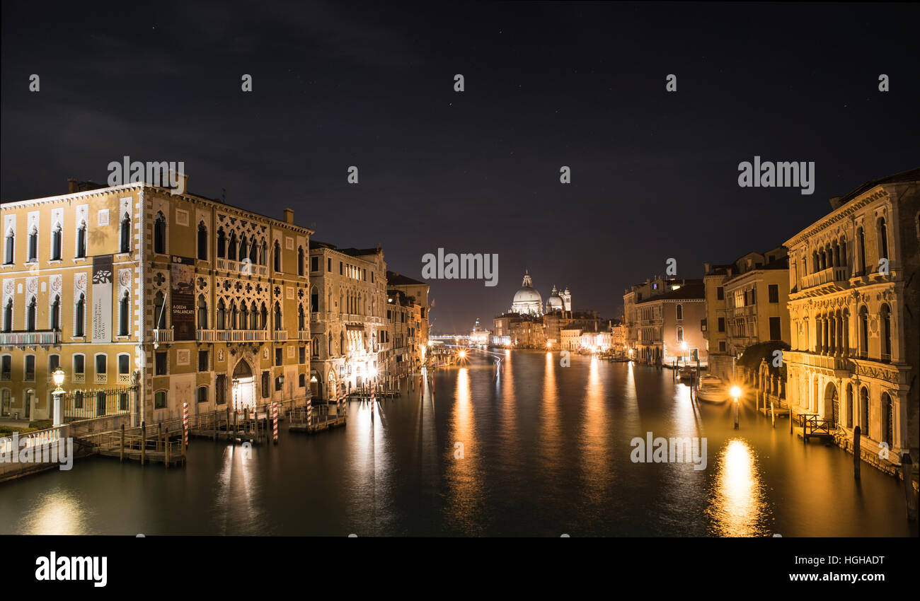 Nightscape in Venice - Stock Image