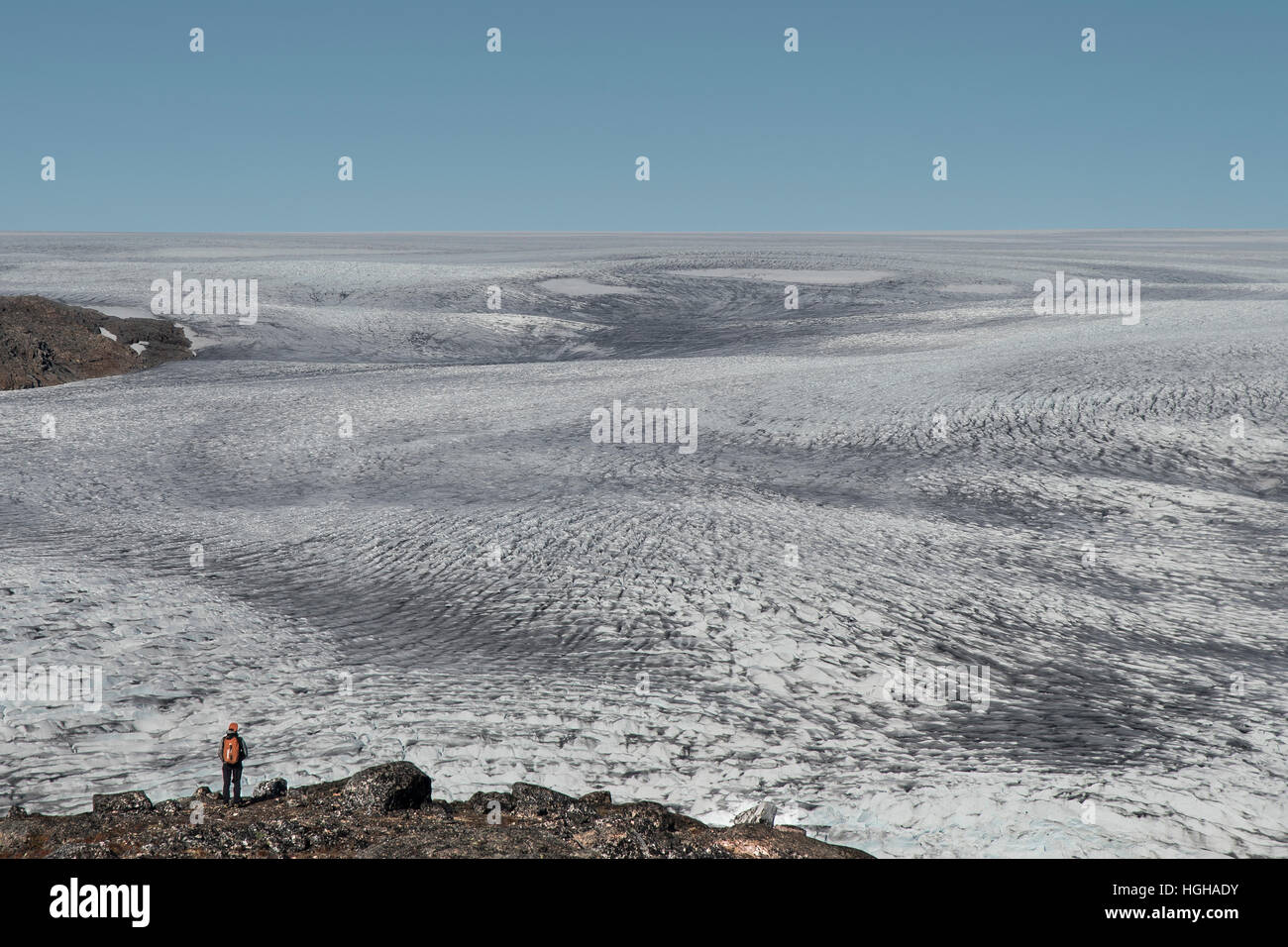 Desert ice Stock Photo