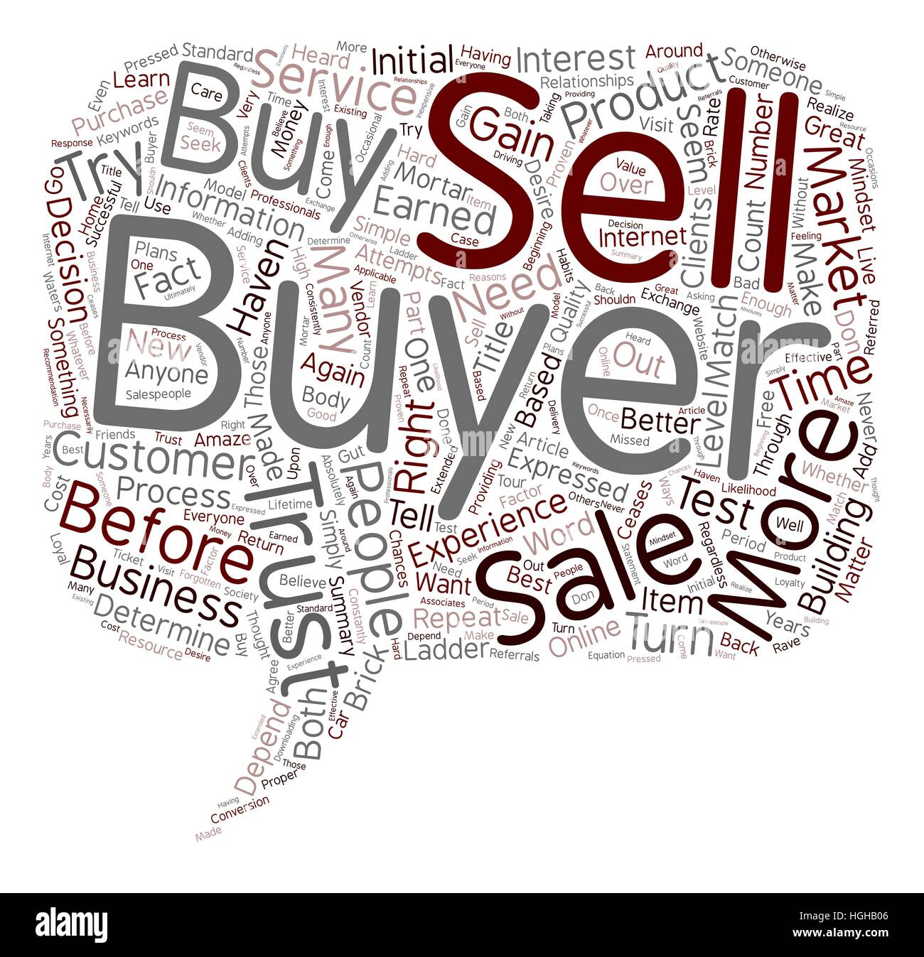 You Haven t Earned the Right to Sell to Me text background wordcloud concept - Stock Image