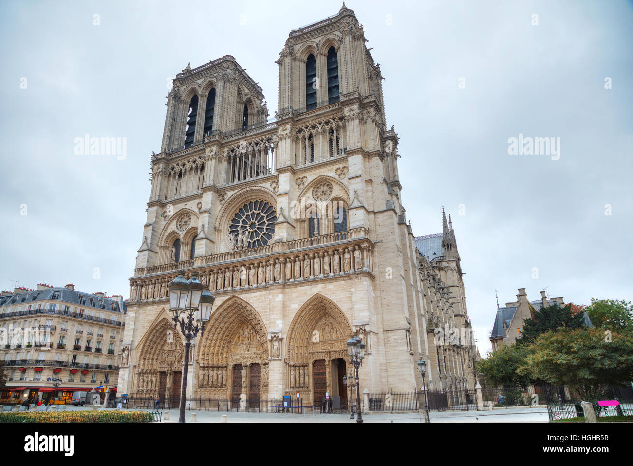Notre Dame de Paris cathedral in Paris, France - Stock Image