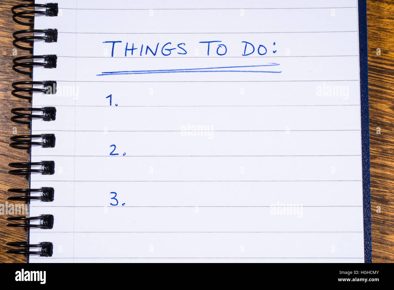 a checklist for things to do stock photo 130690251 alamy