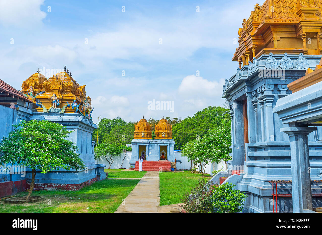 Hindu Temple Garden Stock Photos & Hindu Temple Garden Stock Images