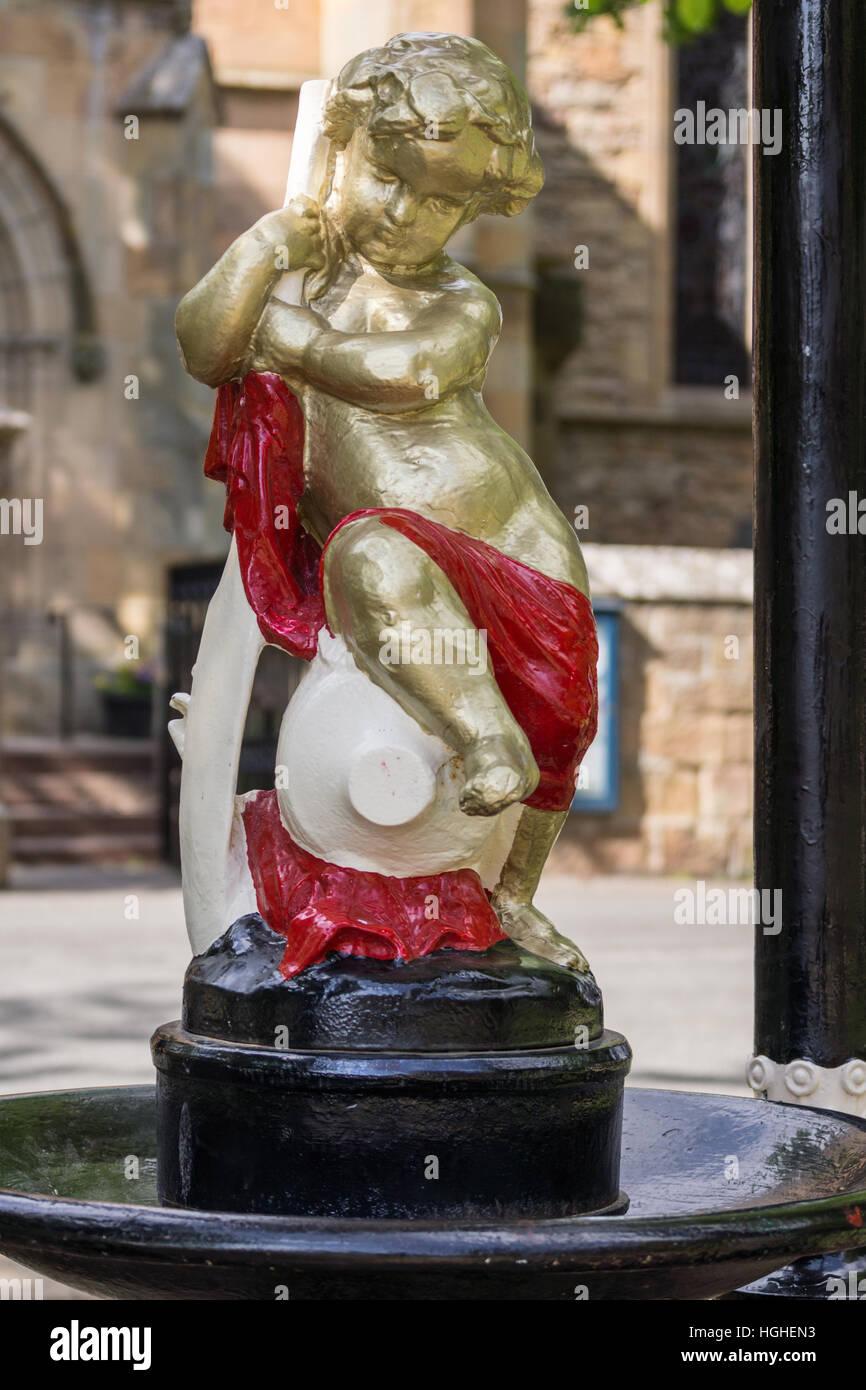 Closeup of the Anderson Memorial Statue in Dornoch, Scotland. - Stock Image