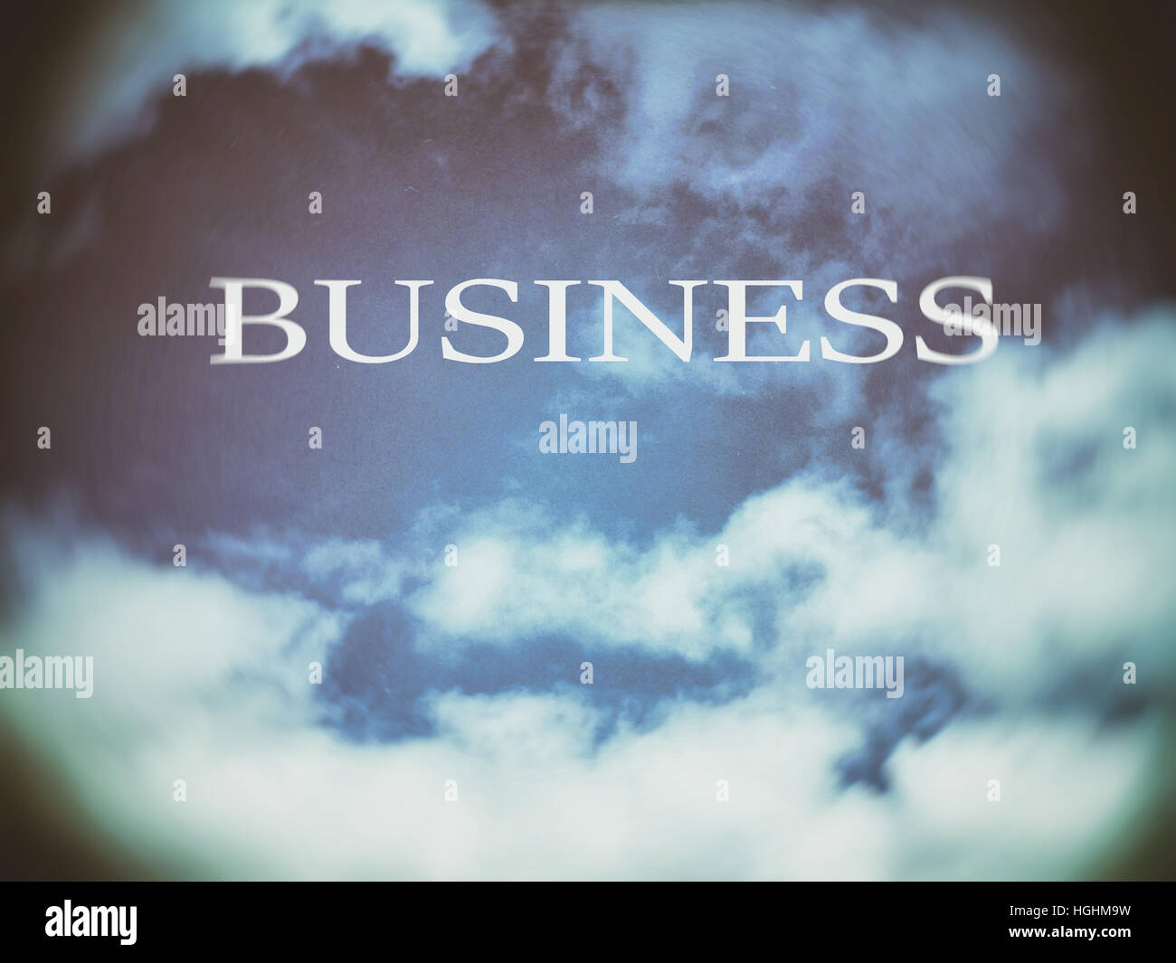 Business. Clouds. Motivation, poster, quote, illustration - Stock Image