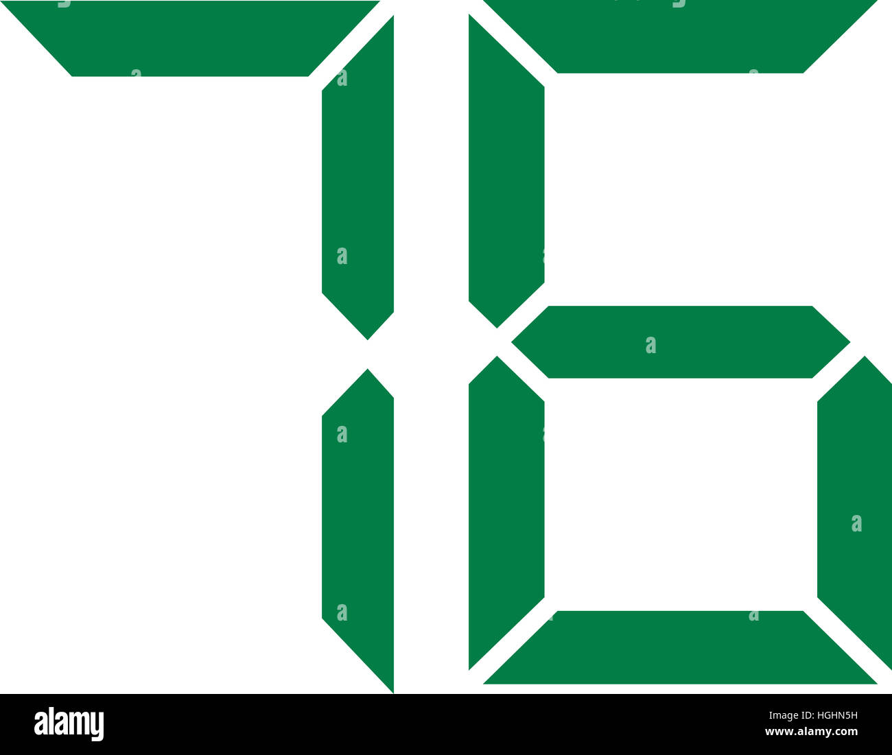 Seventy Six Digital Number 76 Stock Photo Alamy