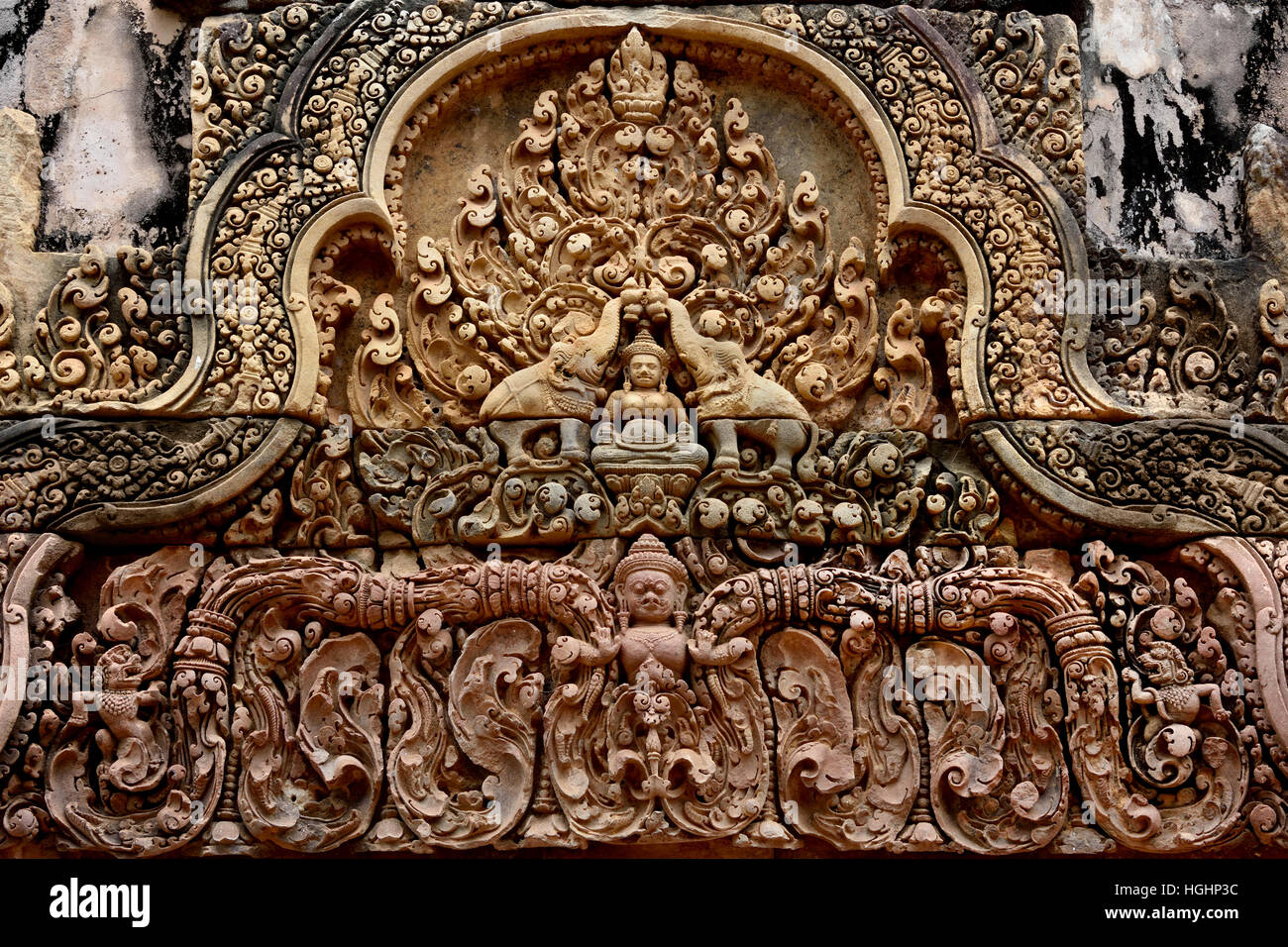 Banteay Srei - Srey Cambodian Temple 10th century Hindu temple dedicated to Shiva. Siem Reap, Cambodia ( Angkor - Stock Image