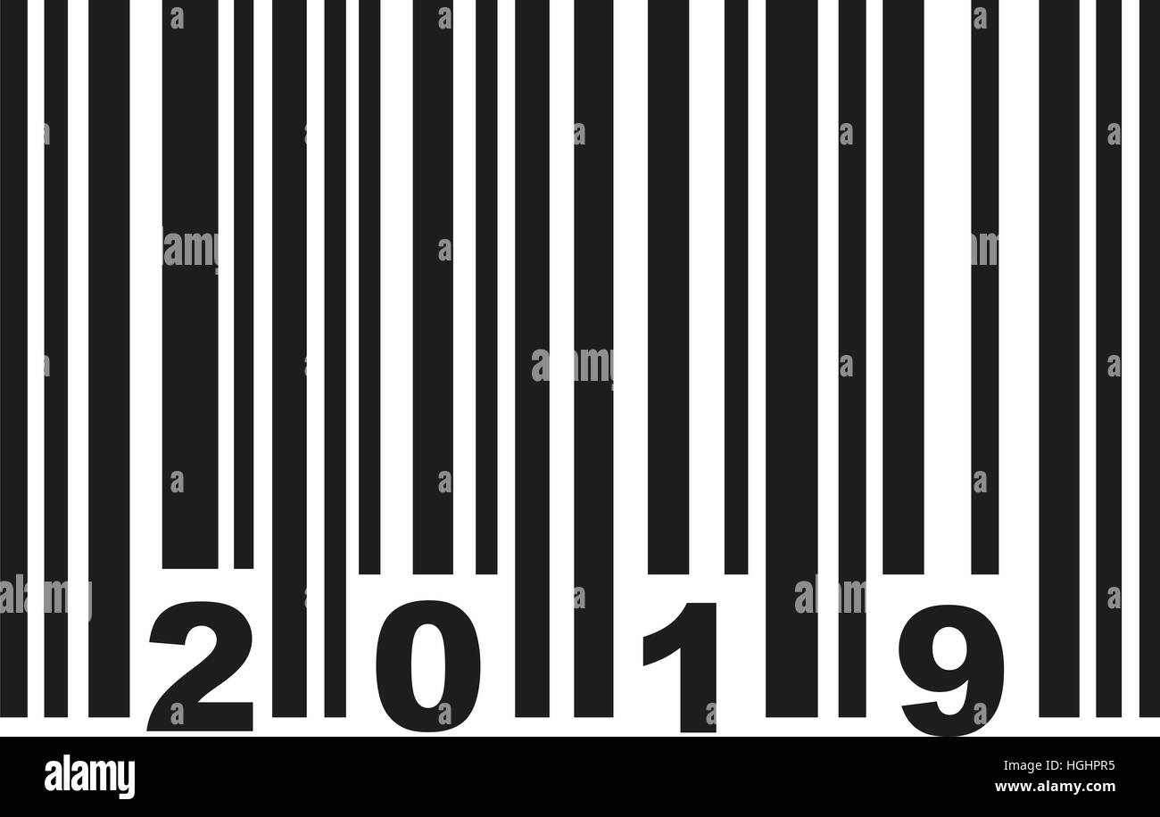 Barcode 2019 - Stock Image
