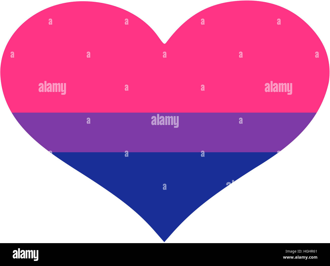 Heart with bisexual pride flag Stock Photo