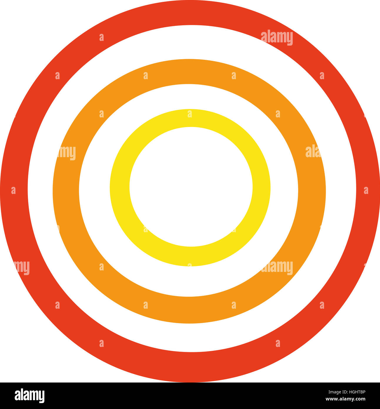 Circle shapes in rainbow colors - Stock Image