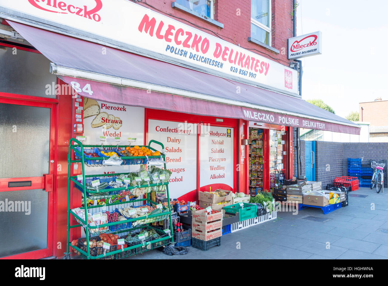 Mleczko Polish Delicatessen, South Ealing Road, Ealing, London Borough of Ealing, Greater London, England, United - Stock Image