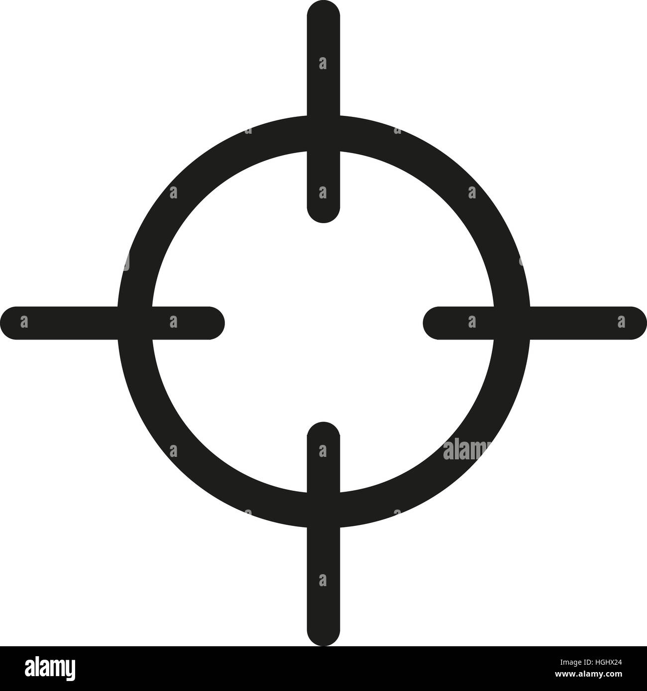 Crosshair target symbol stock photo 130700700 alamy crosshair target symbol buycottarizona Image collections