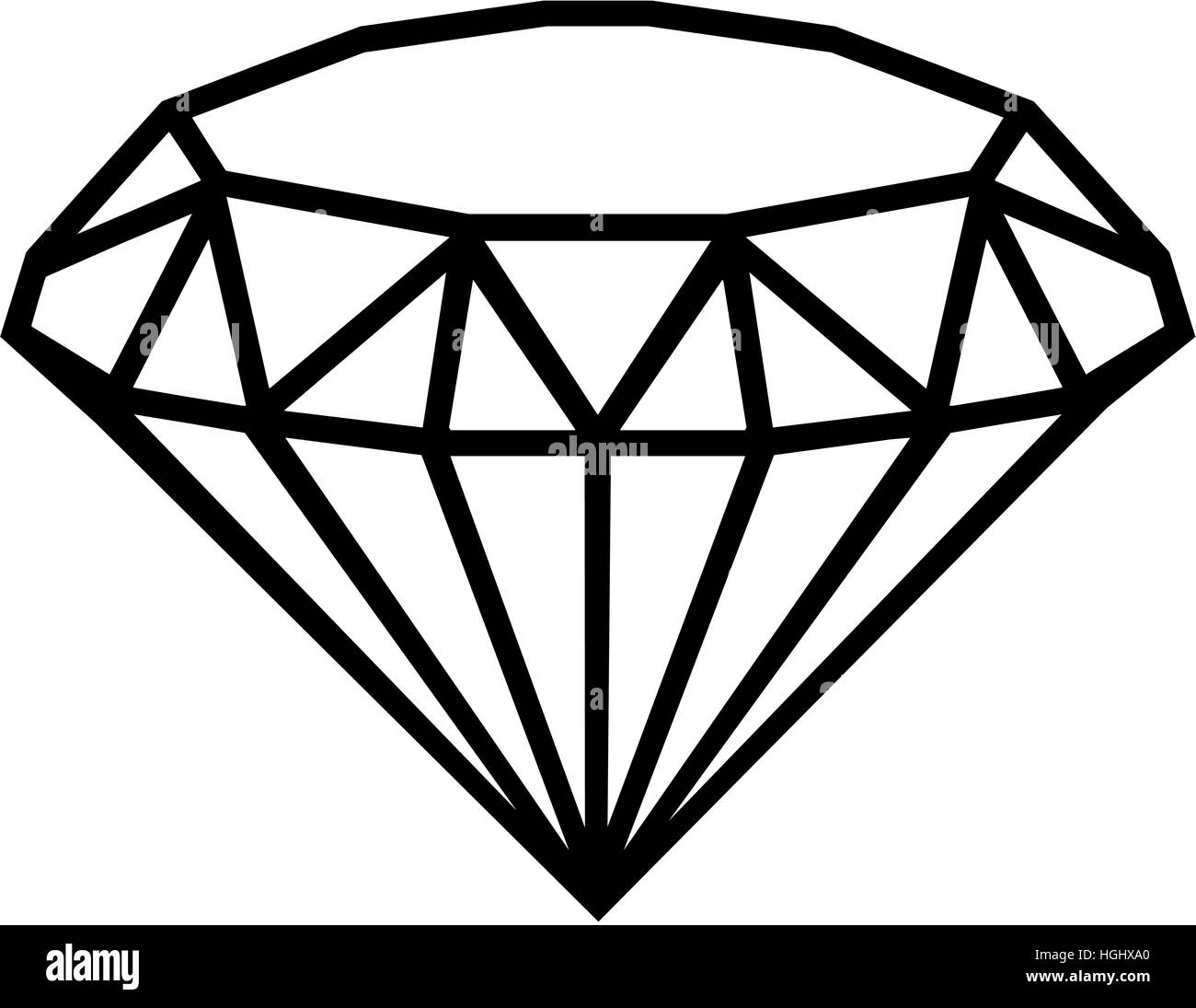 Diamond outline - Stock Image