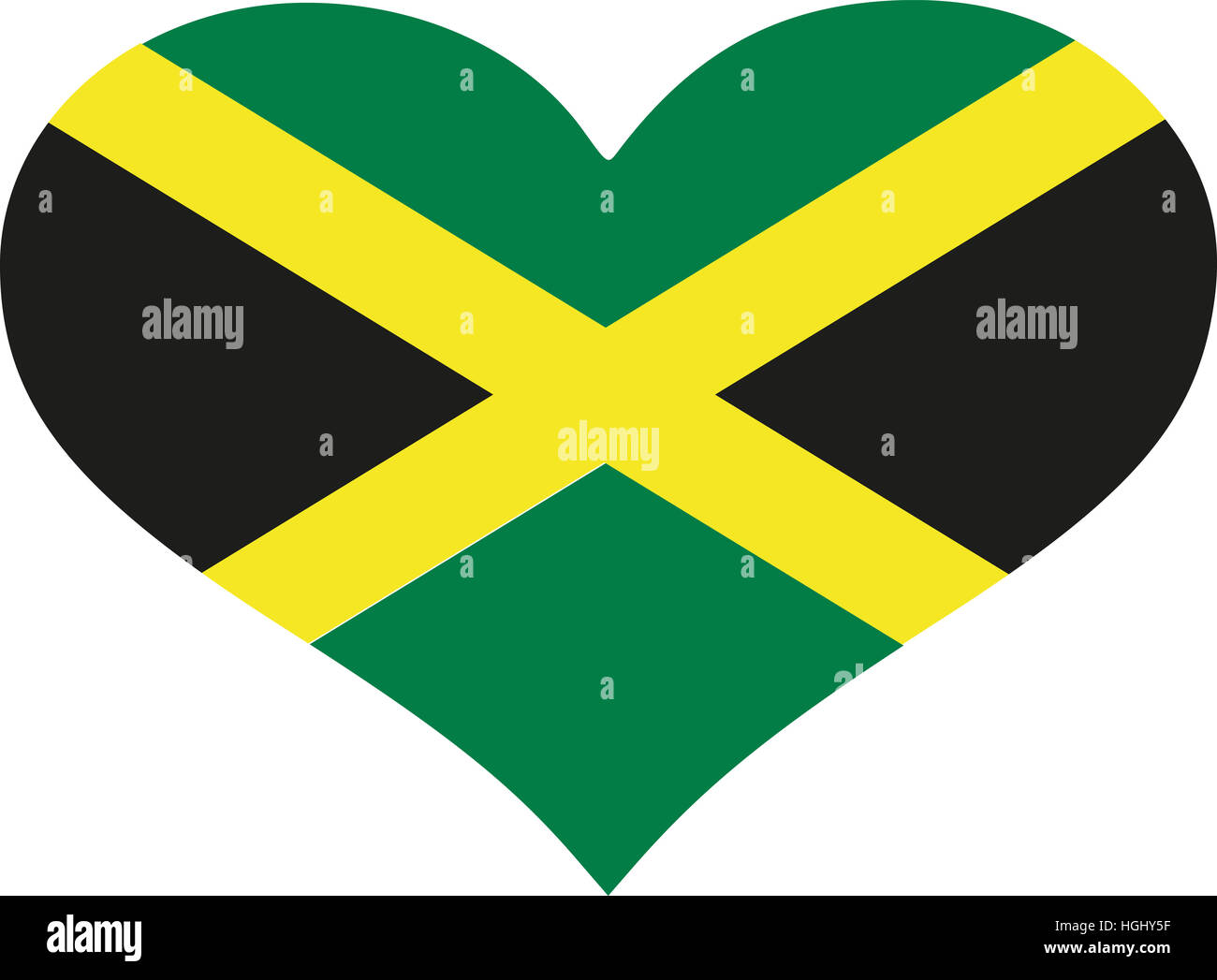 Jamaica flag heart