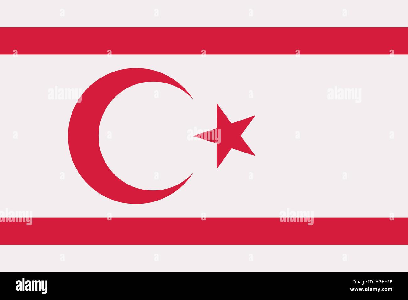 Northern Cyprus flag - Stock Image