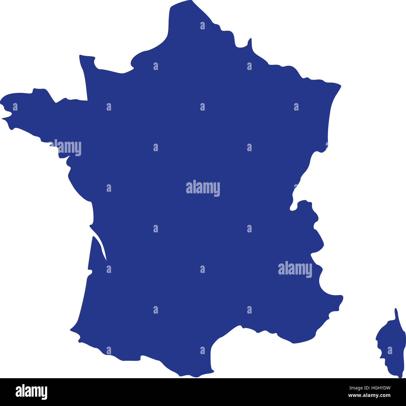 Map Of France And Corsica.France Map With Corsica Stock Photo 130701813 Alamy