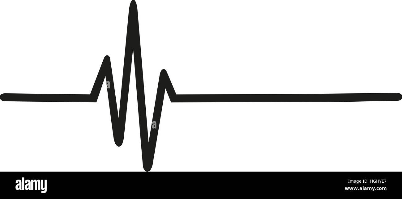 Heartbeat pulse - Stock Image