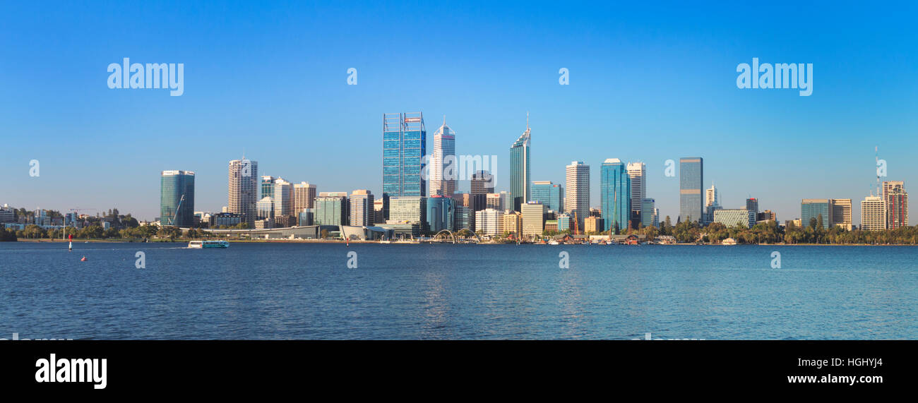 The city on a sunny summer's day. - Stock Image