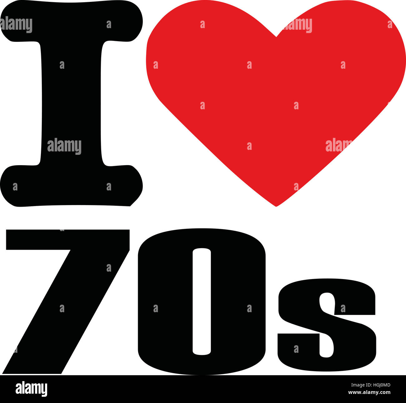 I love seventies - Stock Image