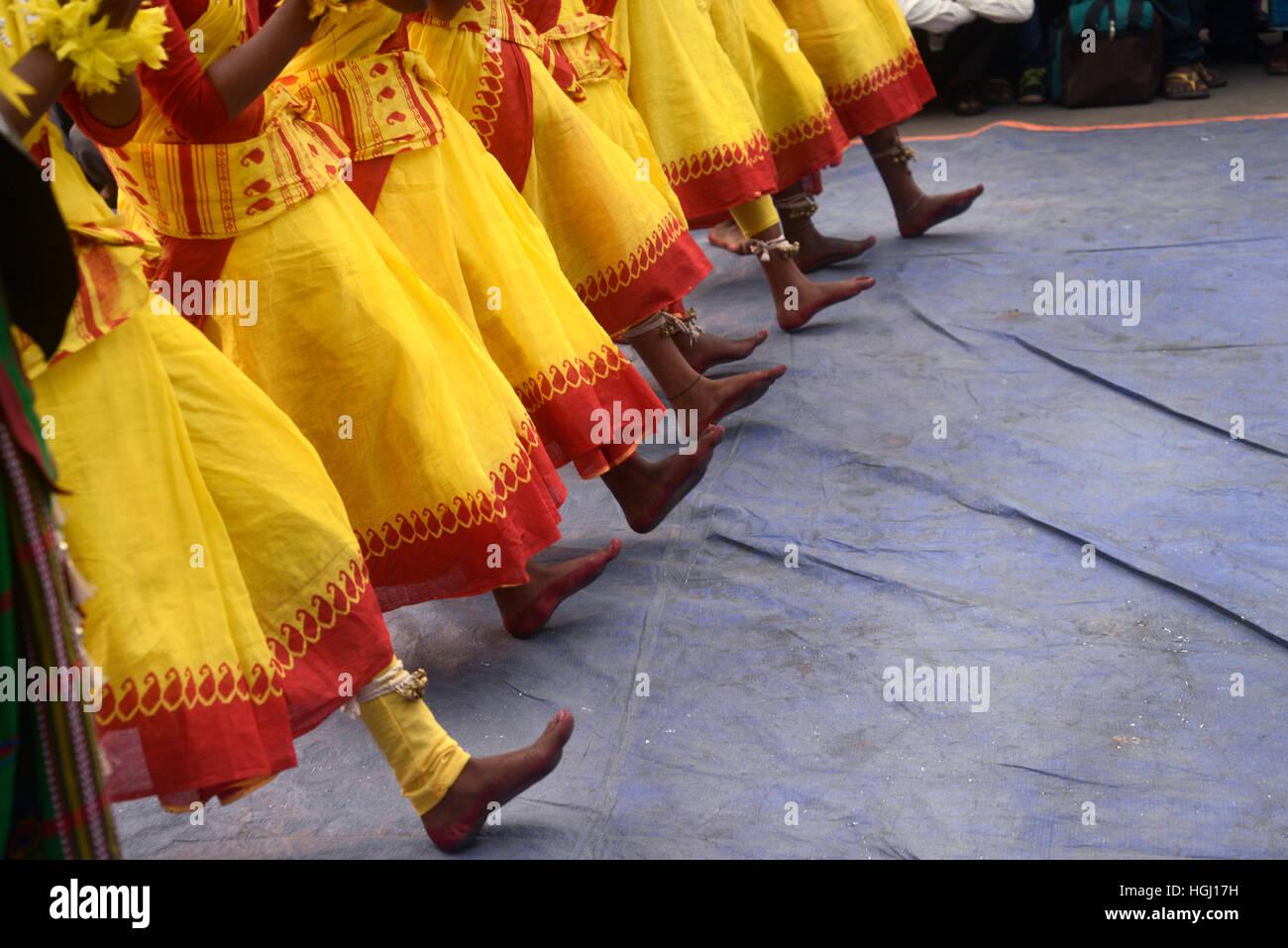 Kolkata, India. 09th Jan, 2017. Federation of Adibasi Organization observe 117th anniversary of Ulgulan or Great - Stock Image