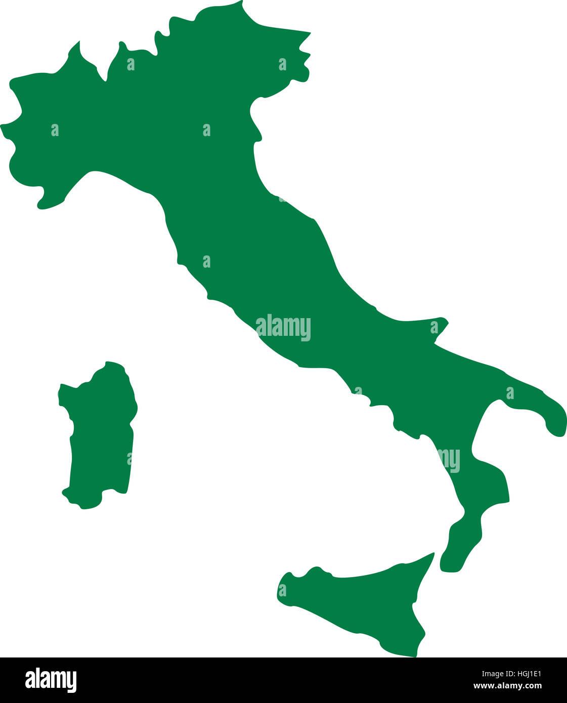 Italy map with sicily and sardinia Stock Photo 130703385 Alamy