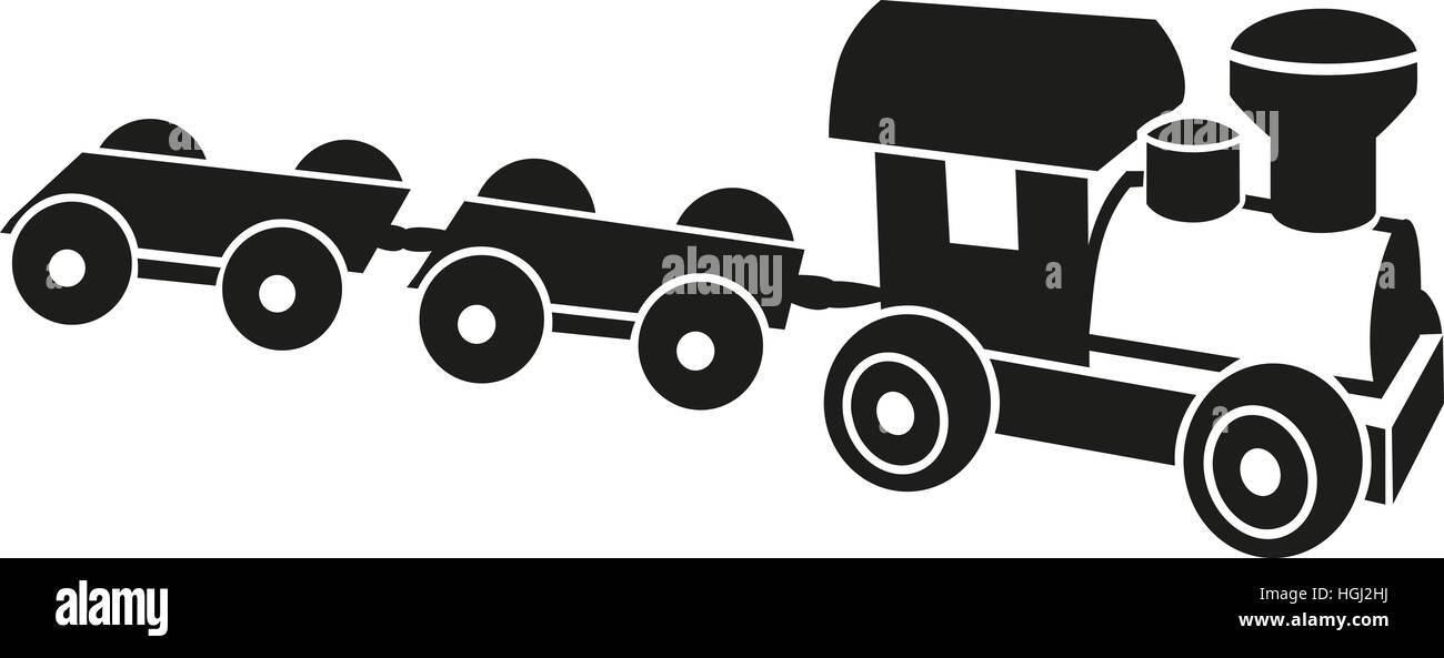 Model railway icon - Stock Image
