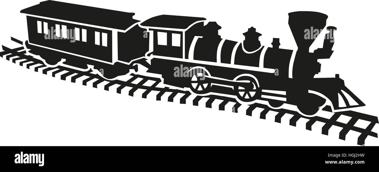 Model railway won rails - Stock Image
