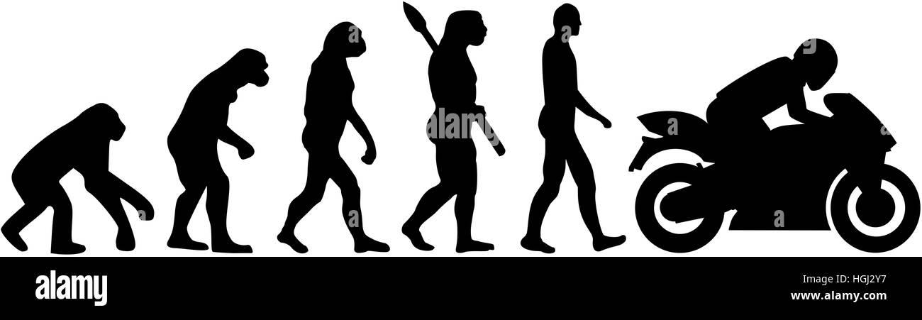 Motorbike evolution - Stock Image