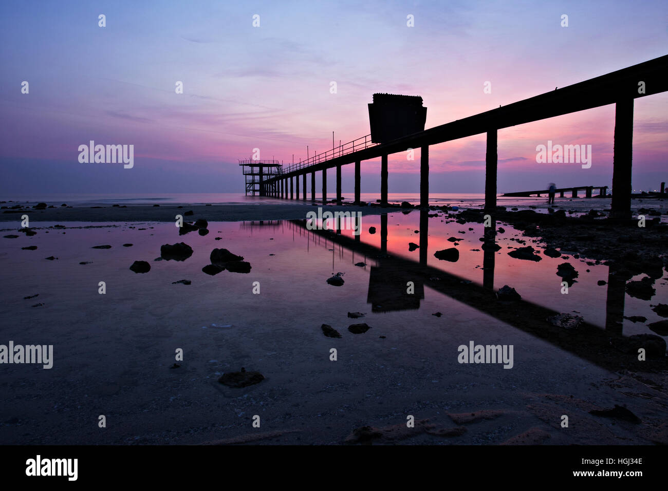 about to see the sunrise - Stock Image