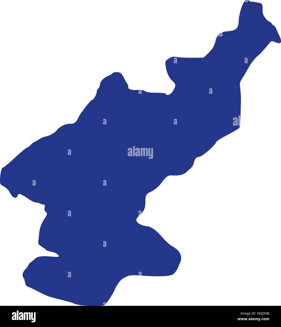 North Korea Map Stock Photo 130705159 Alamy