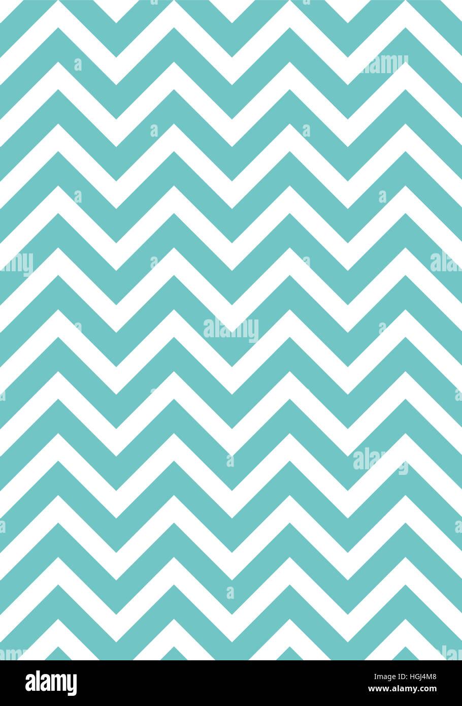 Zigzag pattern lightblue wallpaper - Stock Image
