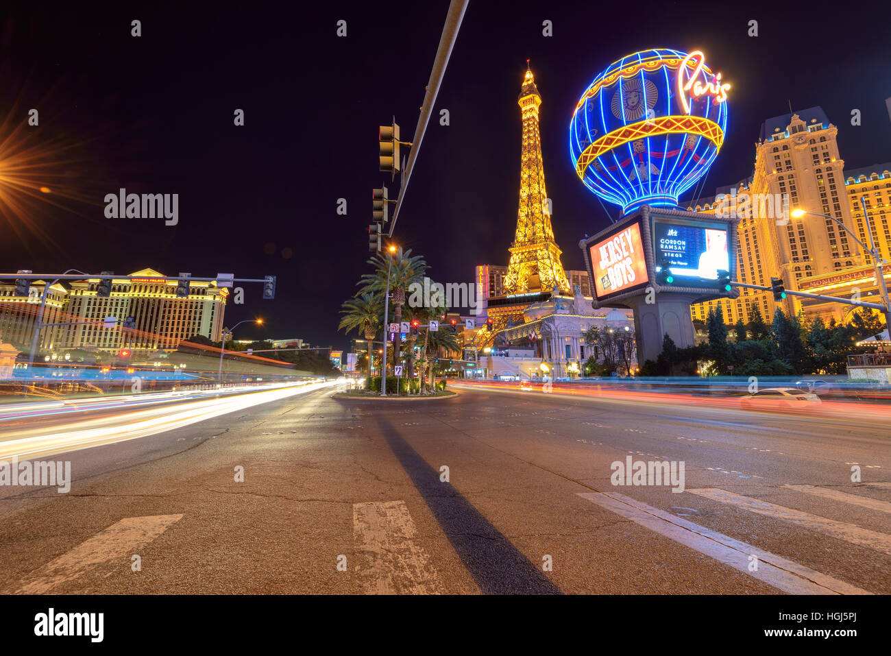 Las Vegas Strip. - Stock Image
