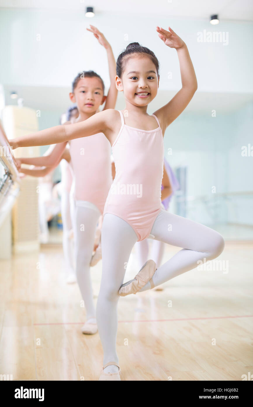 c1901595d302 Little girls practicing ballet Stock Photo  130707222 - Alamy