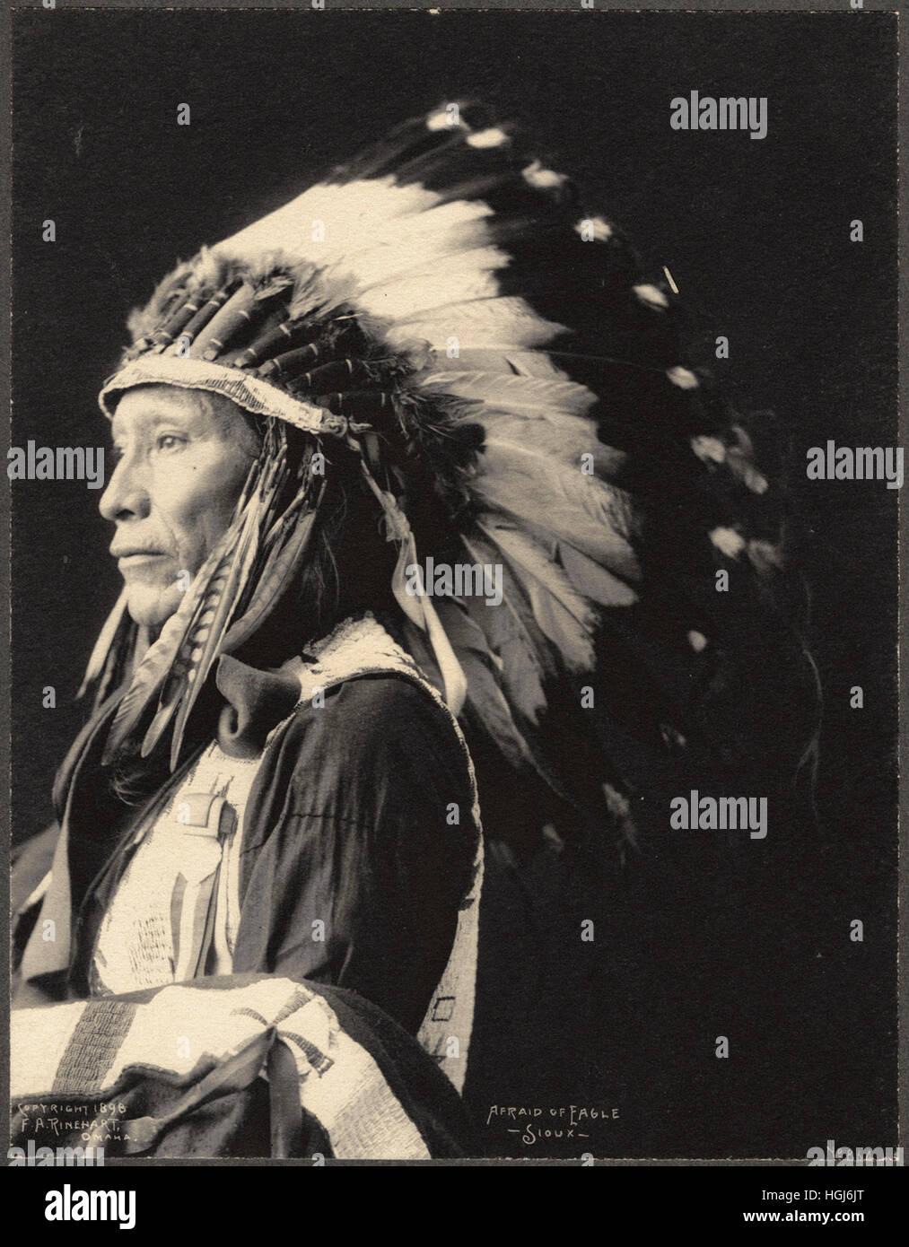 Afraid of Eagle, Sioux   - 1898 Indian Congress - Photo : Frank A. Rinehart - Stock Image