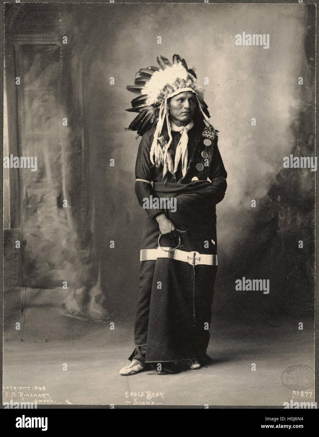 Eagle Bear, Sioux   - 1898 Indian Congress - Photo : Frank A. Rinehart - Stock Image