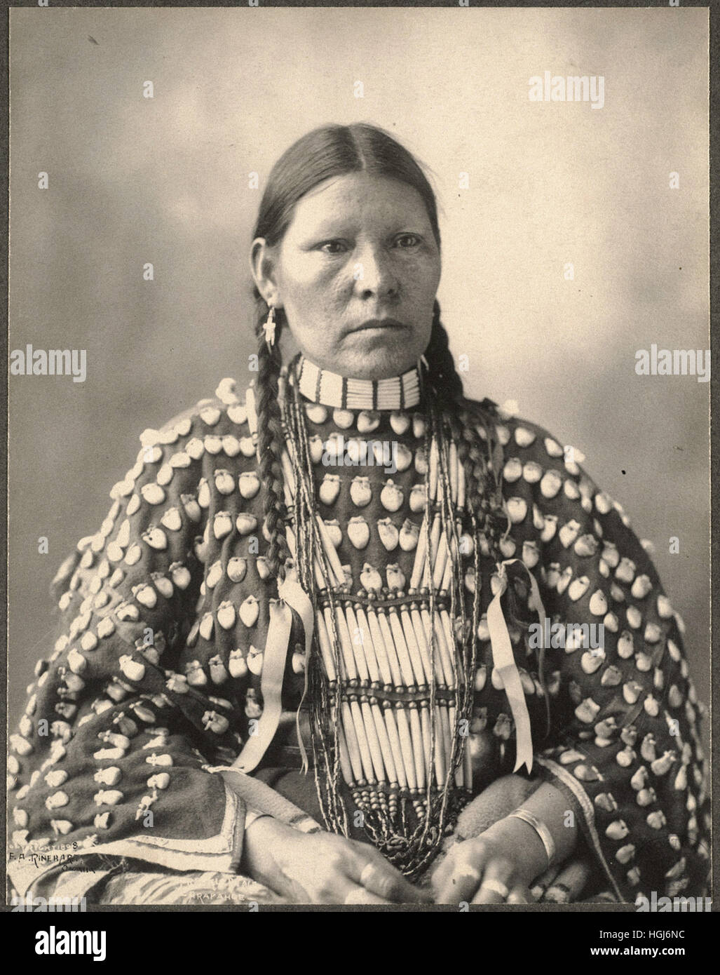 Freckled Face, Arapahoe   - 1898 Indian Congress - Photo : Frank A. Rinehart - Stock Image