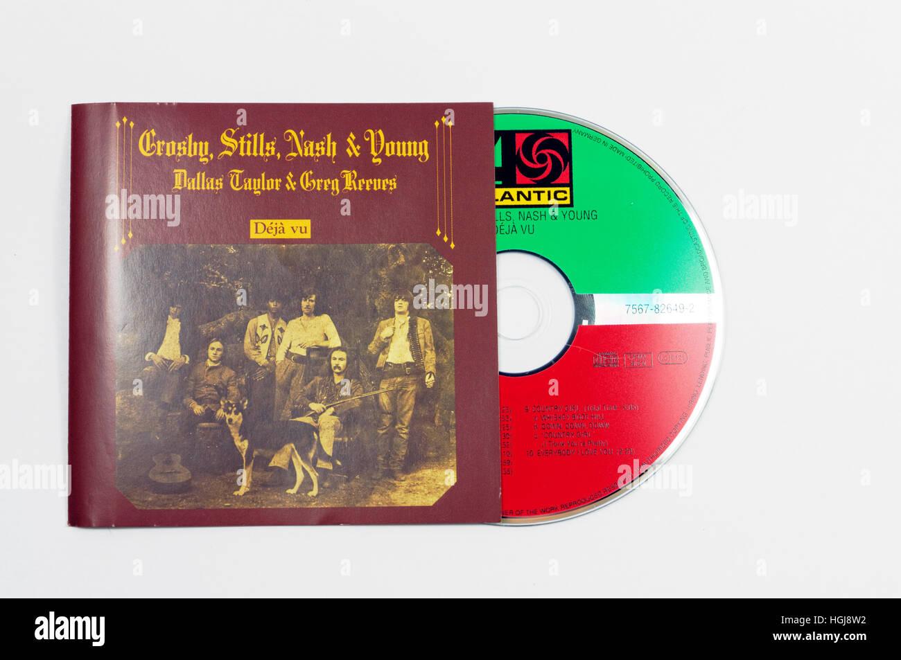 Crosby, Stills, Nash and Young Deja Vu album - Stock Image