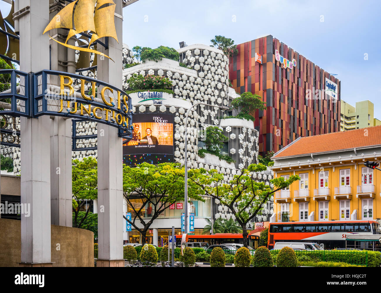 Singapore, Bugis Junction CapitaMall shopping complex at Victoria Street - Stock Image