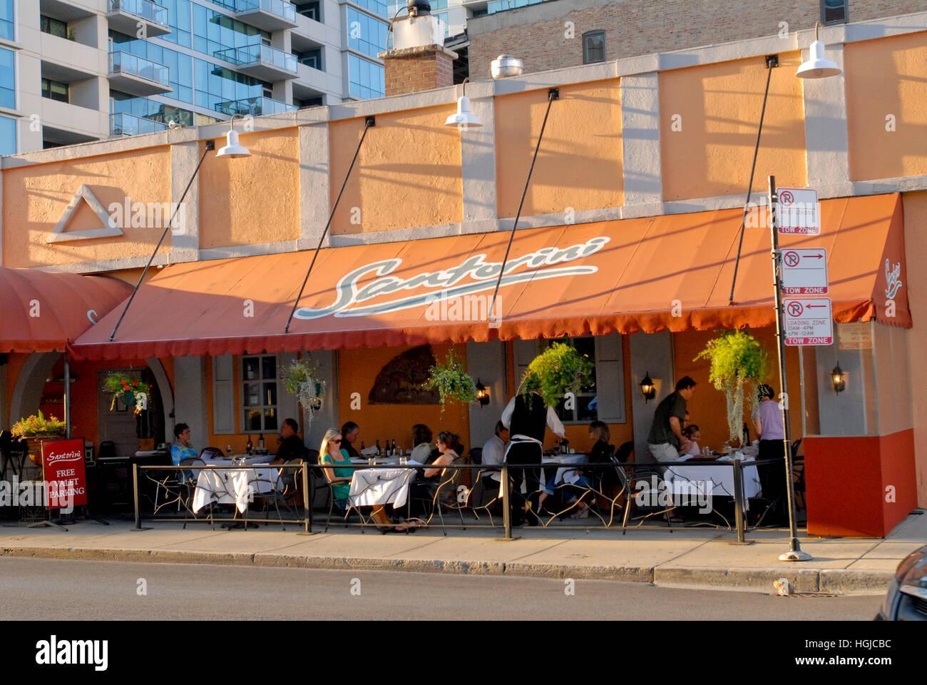 Greektown Restaurants Chicago Illinois Stock Photo 130711936 Alamy