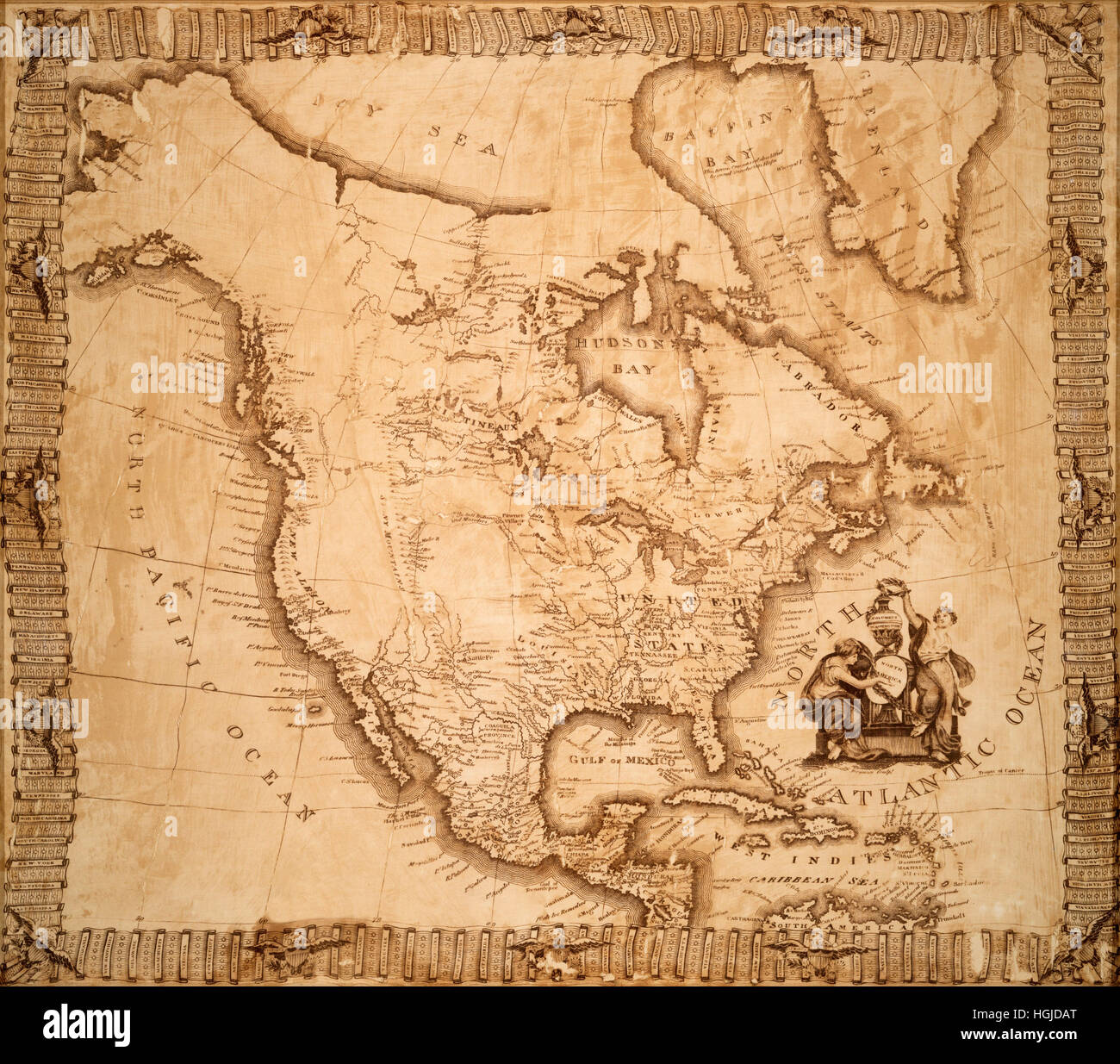 Map Of America In 1800.Map Of America 1800 Stock Photo 130712704 Alamy