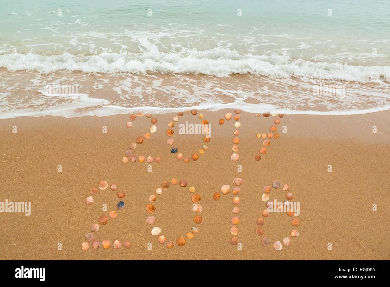 Happy New Year 2018 - Stock Image