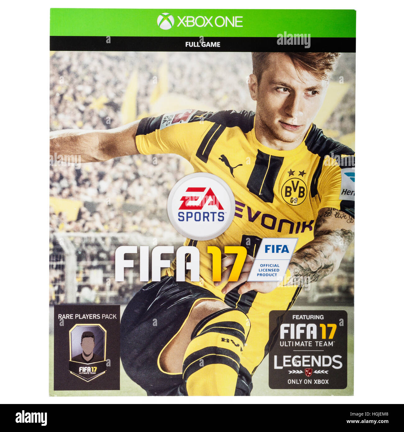 The XBOX ONE FIFA 17 game on a white background - Stock Image