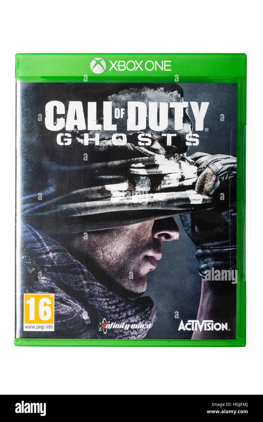 The XBOX ONE Call of duty ghosts game on a white background - Stock Image