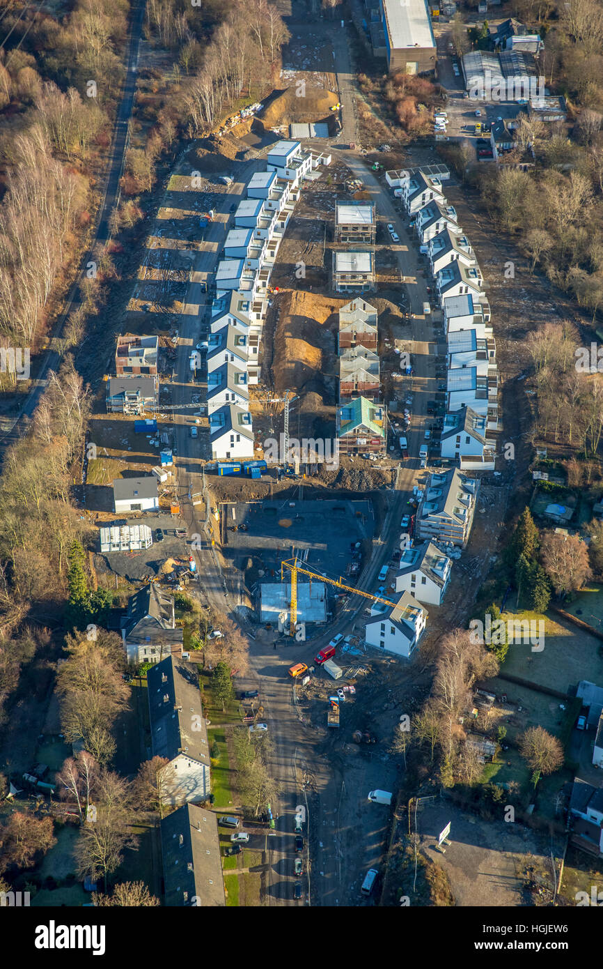 Aerial view, construction area Mark'scher Arch, Urban Planning, at the Holtbrügge, Springorum bike path, - Stock Image